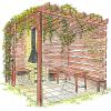 Pergoly a loubí přináší v zahradě potřebný stín…