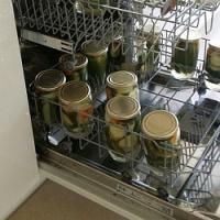 Zavařování okurek i jiné zeleniny a ovoce v myčce na nádobí