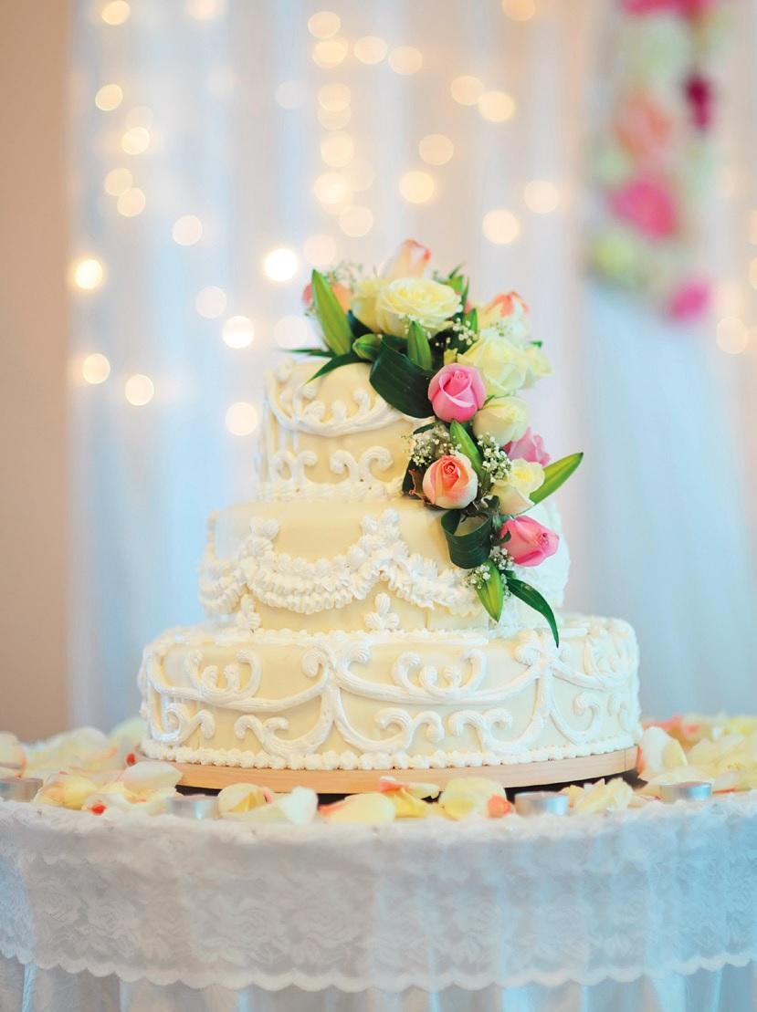 Svatební menu - dort
