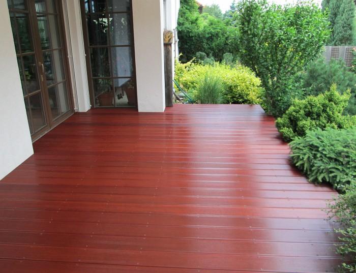 Venkovní podlaha z exotického dřeva massaranduba