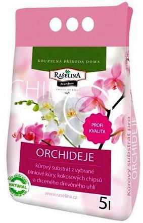 Kůrový substrát pro orchideje