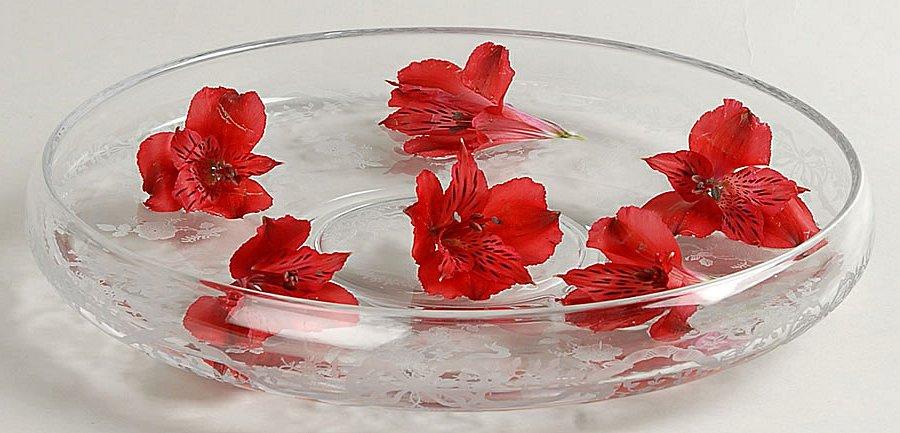 růže v misce s vodou